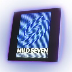 Wall sign with light dynamics